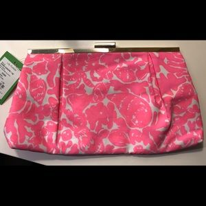 Lilly Pulitzer Cosmo Pink Printed Clutch